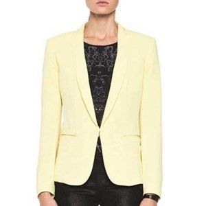 Rag & Bone Crepe Yellow Tuxedo Slim Blazer Jacket